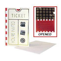 Movie Ticket Gift Cards Online - movie ticket invitation cards findgift com