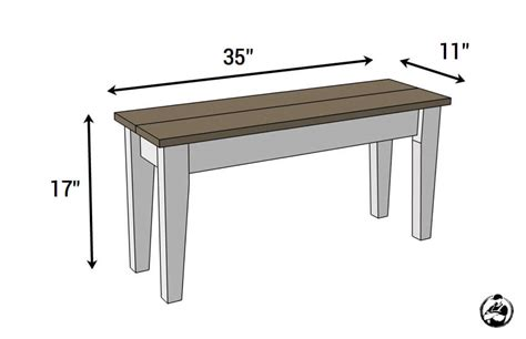 dimensions of bench small entry bench free diy plans rogue engineer