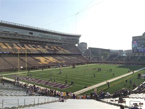 bank sections tcf bank stadium section 119 rateyourseats com