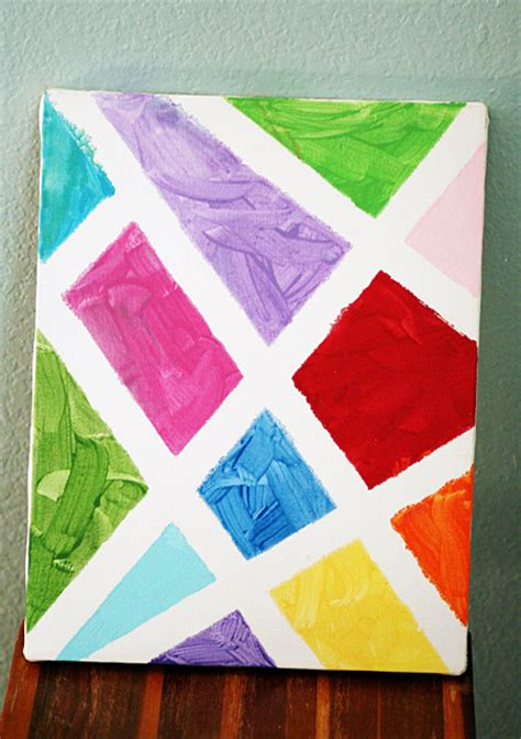good painting ideas simple abstract painted canvas let s explore