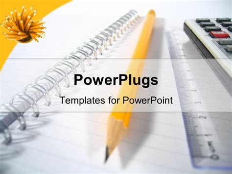 powerpoint templates free writing powerpoint template notepad with big yellow pencil ruler