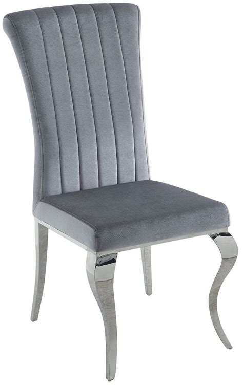 grey side chair carone grey and chrome side chair set of 4 105073