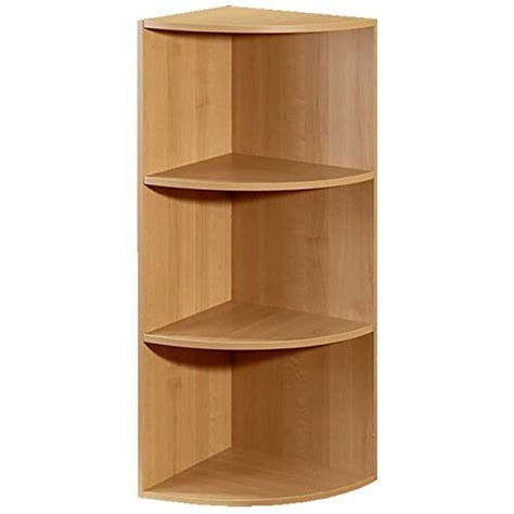 3 Shelf Corner Bookcase Corner Closet Organizer Bookcase Cabinet Bookshelf Rack Modular 3 Shelf System Maple House