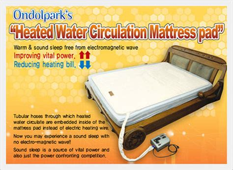 Water Heated Mattress Pad by Ondolpark S Heated Water Circulation Mattress Pad From