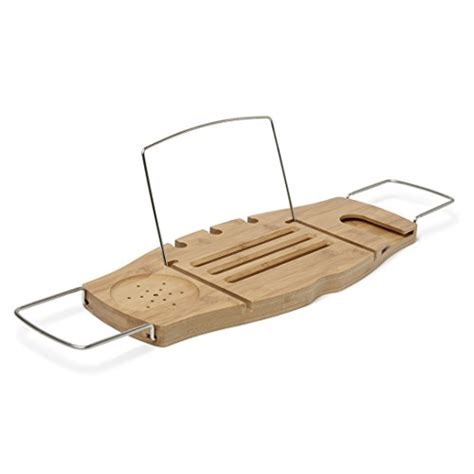 umbra aquala bathtub caddy umbra aquala bamboo and chrome bathtub caddy