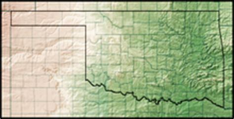 geographical map of oklahoma geography of oklahoma