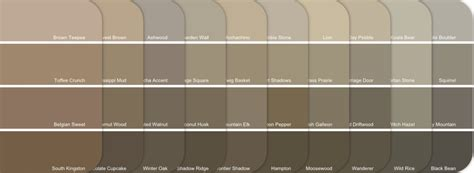 warm neutral paint colors kwal paint color chart paint cheat sheet neutral