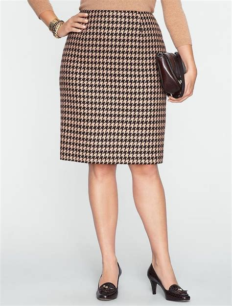 talbots houndstooth pencil skirt new arrivals