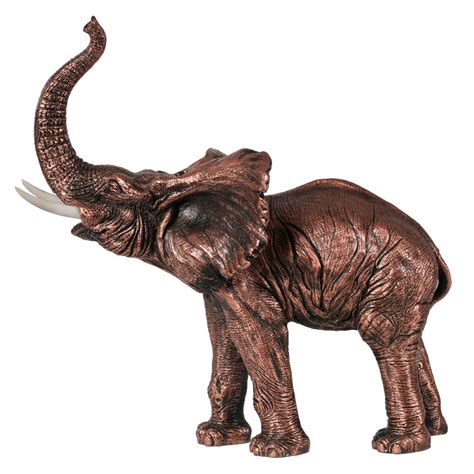 elephant statue standing elephant statue copper finish