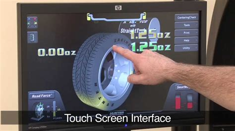 do tire balancing work the road touch wheel balancing machine by