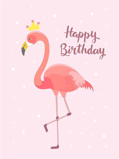 flamingo birthday  vector art   downloads