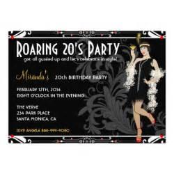 roaring 20 s flapper retro invitations 5 quot x 7 quot invitation card zazzle