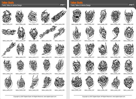 tattoo catalogue pdf skulls tattoos extreme vector clipart for professional