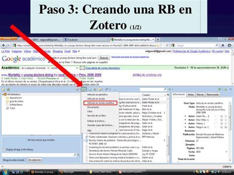 tutorial de zotero en español gestor de referencias zotero