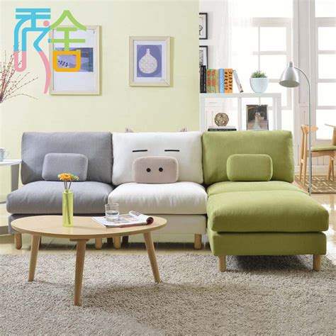Corner Sofa In Living Room Show Homes Sofa Korean Small Apartment Around The Corner Of The Living Room Furniture Ikea Lazy