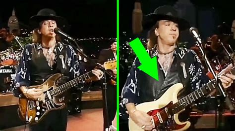 closely  stevie ray vaughan pulls   smoothest guitar switch youve