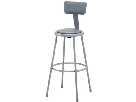 Padded Stool With Backrest by Nps Padded Metal Lab Stool With Backrest 30 Quot H Stools