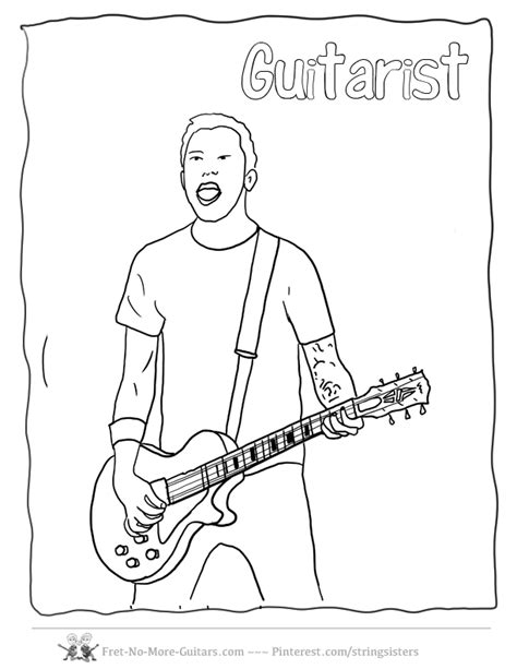girl guitar coloring page guitar hero coloring pages az coloring pages