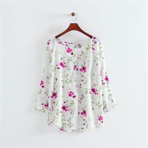 Hm Chiffon Sleeveless Blouse White Small Floral shirt white picture more detailed picture about vintage chiffon purple floral