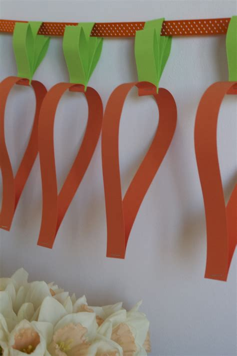easy decorations quick easy easter make for kids carrot garland mook