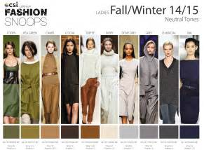 fall clothing colors fall winter 2014 2015 runway color trends nidhi saxena s