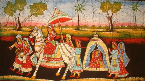 by indian palanquin