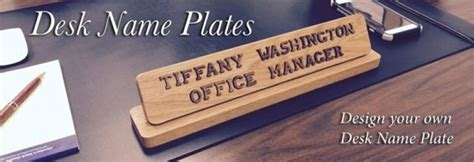 custom desk name plates help keep your employees happy
