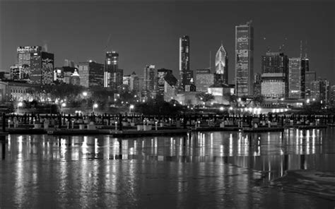 chicago winter skyline bw: mach schnell: galleries