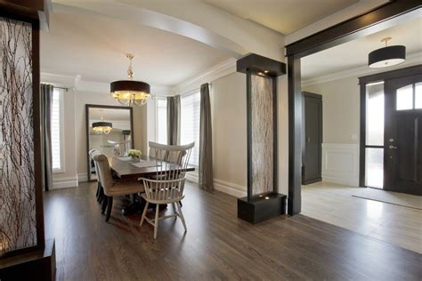 Dining Room At Front Entry Room Divider Ideas Entry Midcentury With Front Door Mid
