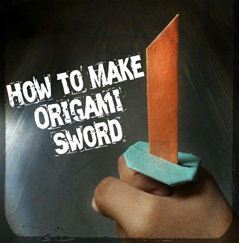 How To Make A Origami Minecraft Sword - how to make origami sword 13 steps