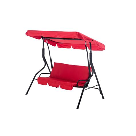 red patio swing sunjoy clio 2 person red patio swing 110205006 r the