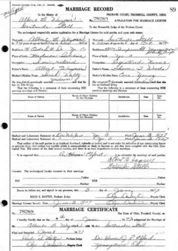 Trumbull County Ohio Marriage Records Collecting Ancestors Wally Huskonen S