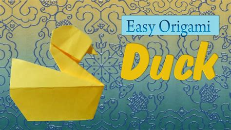 Easy Origami Duck Tutorial Henry Pham My Crafts And Diy