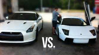 Skyline Vs Lamborghini Nissan Gtr Vs Lamborghini Aventador Upcoming Nissan