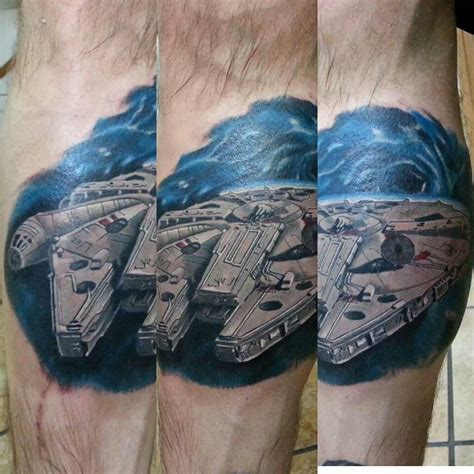 millennium falcon tattoo awesome millennium falcon starwars