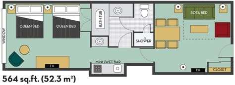 embassy suites floor plan 2 20queen 20fallsview 202 room 20suite 20with 20breakfast