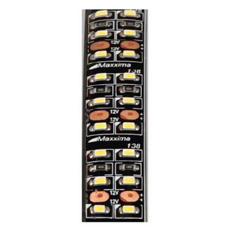 maxxima led strip runner lighting mls d45276 45 quot white double row led adhesive strip light