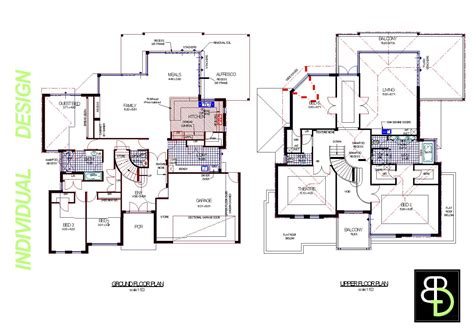 2 house blueprints smart placement simple house plans ideas