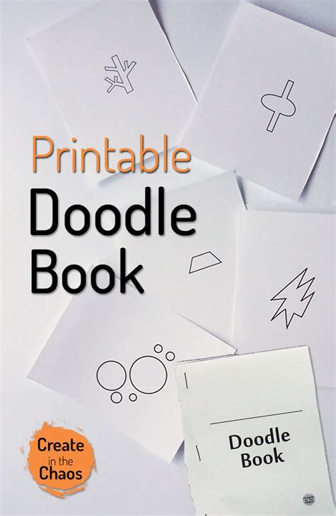 how to use you doodle plus printable doodle book create in the chaos
