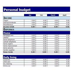 Simple Excel Budget Template Simple Budget Template Sadamatsu Hp