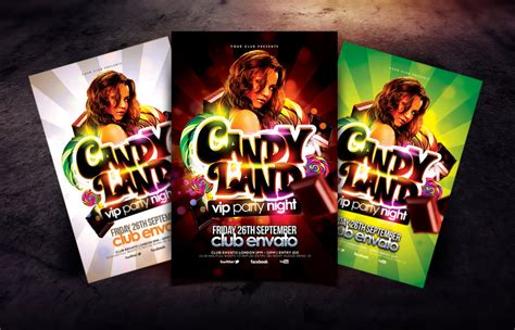 Candyland Flyer Template land vip flyer template by dannygdesigns