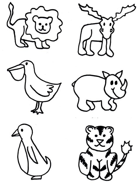 free printable zoo animal cutouts animal shapes to cut out az coloring pages