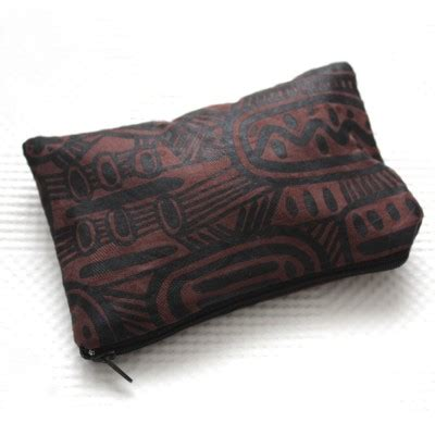 Zipper Batik Chocolate Batik Zipper Pouch