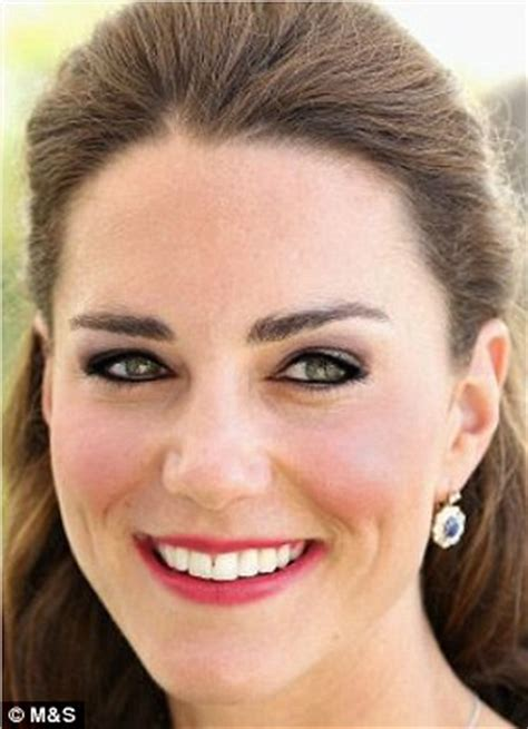 kate middleton's extreme makeover. m&s virtual beauty