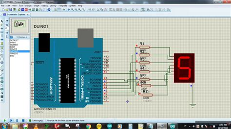 arduino tutorial 7 segment display seven segment display to arduino in proteus arduino