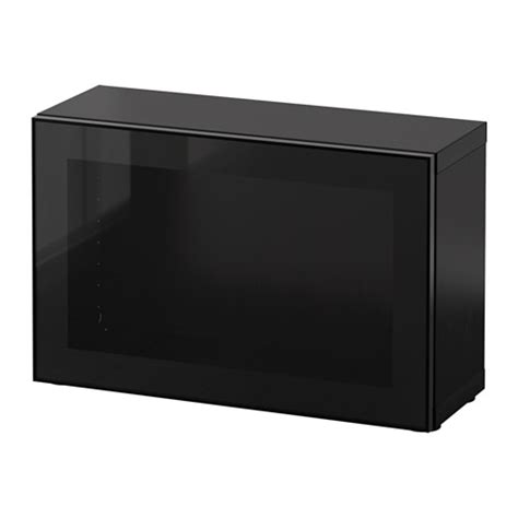 besta zwart best 197 open kast met vitrinedeur zwartbruin glassvik