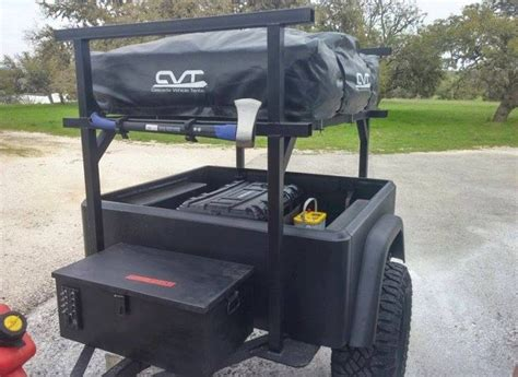 Trailer Roof Rack System by No Weld Trailer Racks Racking System And Roof Top Tent