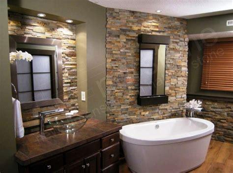 ide desain kamar mandi batu alam minimalis rumahpedia