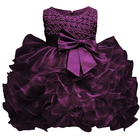 baby girl baptism dress toddler girl christening purple