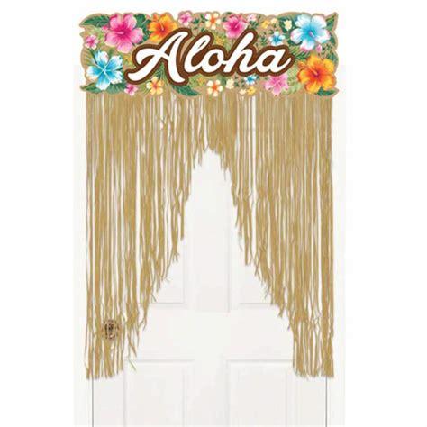 festa tende 2m tropical hawaiian aloha grass doorway door sign